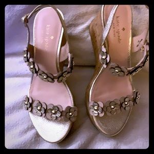 KATE SPADE WEDGE SANDALS TISDALE LIKE NEW